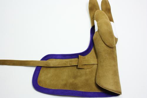 弓具 弓かけ束離丸染 チビ小鹿 七分縁茶色|手形合わせ